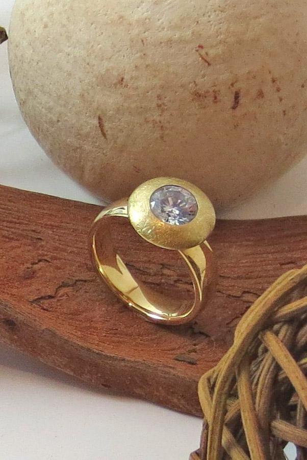 Einkaräter-Gelbgoldring